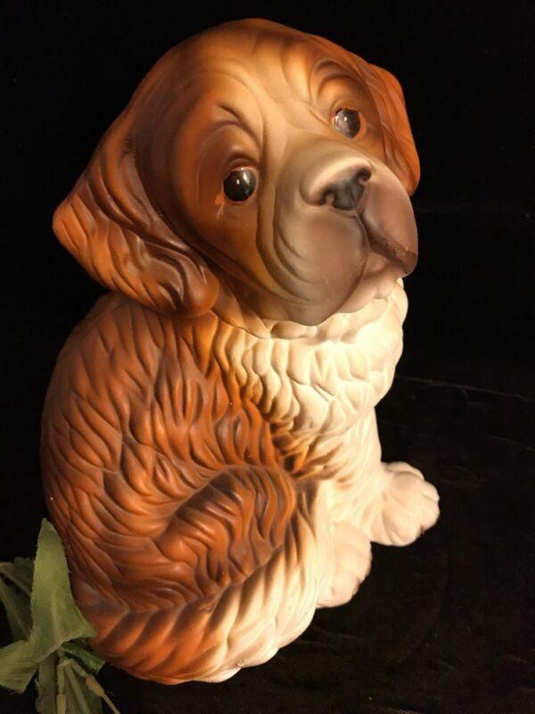 Vintage Porcelain Saint Bernard Figurine
