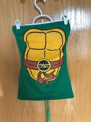 TMNT Teenage mutant ninja turtles  Halloween Costume T-Shirt SM Juniors Lace-up ()
