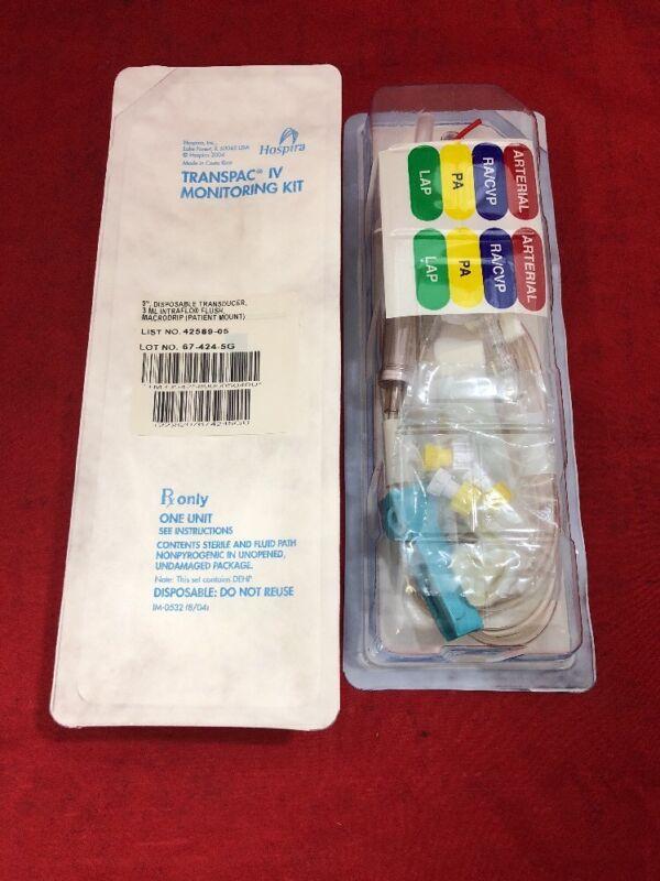 """New Lot Of 20 Hospira Transpac Iv Monitoring Kit 9"""" 42589-05"""