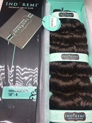 """IndiRemi® Virgin Remi Hair Weave_FRENCH_WAVE_WEAVING_18""""_#4 Indi Remi French Wave"""