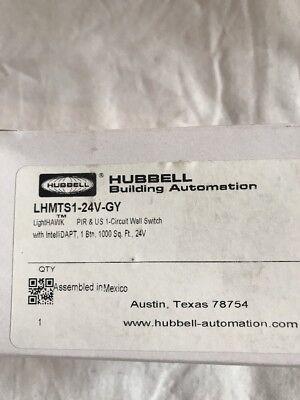 Hubbell Lhmts1-24v-gy Lighthawk Pir Us Circuit Wall Switch