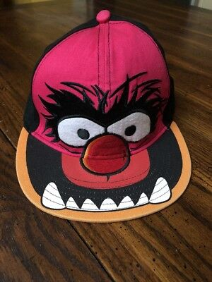 Disney The Muppets ANIMAL Ball Hat Pink Black Drummer Fitted Adult