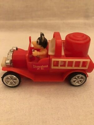 Old Time Fire Truck - Durham's Walt Disney Mickey Mouse Club Old Time Auto Fire Truck Crank Up Action