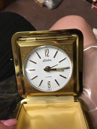 Vintage Linden Travel Alarm Clock - NIB- Brown