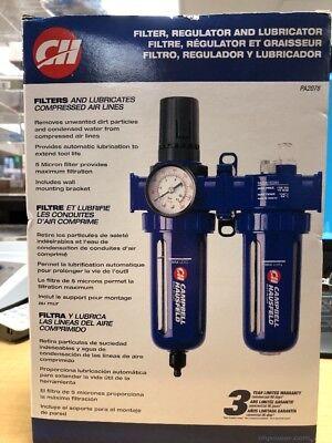 Air Filter And Pressure Regulator Lubricator 90 Psi Pneumatic Compressor Gauge