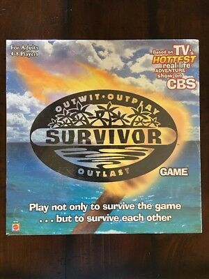 NEW! Survivor Board Game Outwit Outplay Outlast TV Show CBS Mattel For Adults