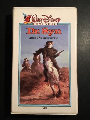 Dr Syn Alias The Scarecrow Walt Disney Home Video Tested White Clamshell Clam
