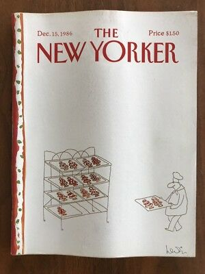 1986 December 15 The New Yorker Magazine Christmas Cookie Bakery Levin