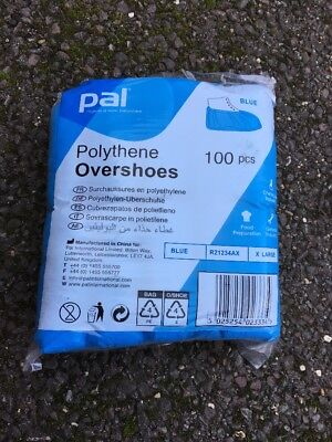 Pal Polythene Overshoes Size Xl 300 Shoes  3 Packs Of 100