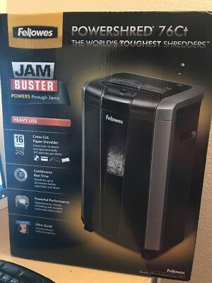 Powershred 76ct 16-sheet Cross-cut Heavy Duty Paper Shredder With Jam Buster