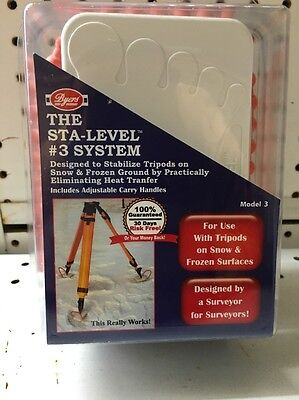 Byers Sta-level 3 System. Surveyor Tripod Stand. Frozen Ground. Usa