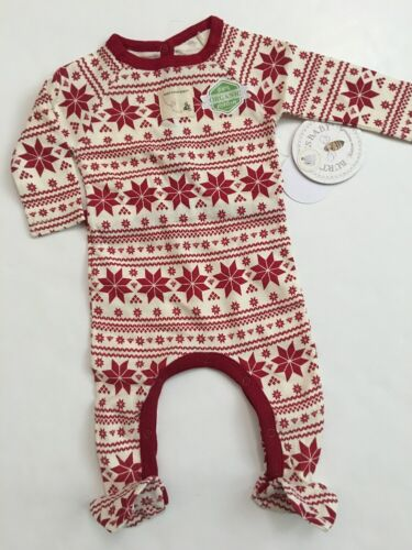 Burts Bees Baby Girl Coverall Family Pajamas Size 3 6 9 Mont