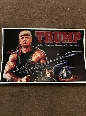 DONALD RAMBO TRUMP Sticker  Decal 6.5 X 4.0 Full Color