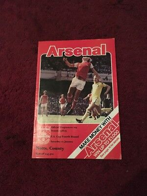 ARSENAL V NOTTS COUNTY - 27-1-1979 - FA Cup