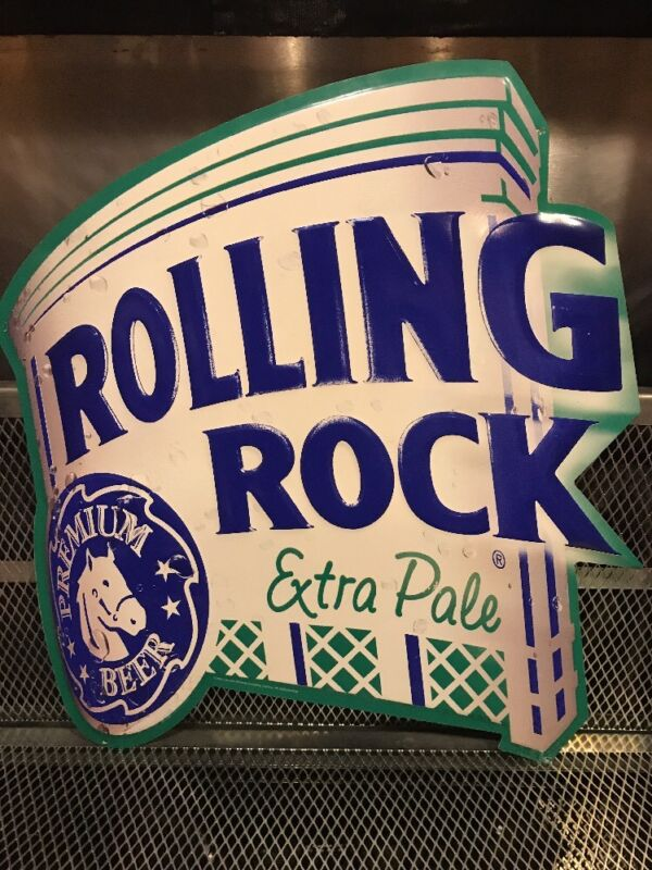 ROLLING ROCK ~ LATROBE BREWING PA ~ Extra Pale ~  Beer SIGN Bar Pub Game Room