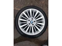 BMW F30 F31 F32 F33 8JX18 LA MULTI-SPOKE 416 SINGLE ALLOY+TYRE PN. 6796249 NO.1
