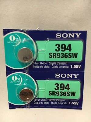 2 NEW SONY 394 SR936SW SILVER OXIDE BATTERIES USA SELLER FREE SHIPPING