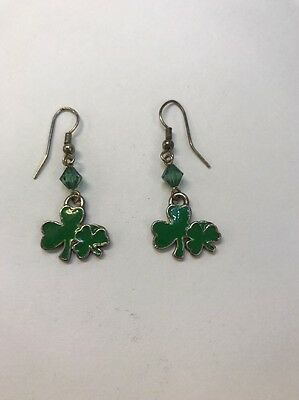 Shamrock Earrings Costume Jewelry - Shamrock Costume
