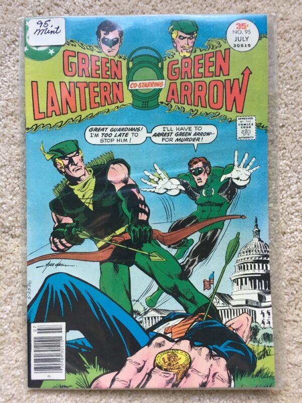 Green Lantern Green Arrow Comic Book #95, DC Comics 1977 NEAR MINT-   NM-