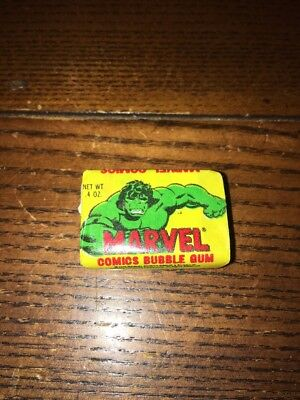 Rare New Old Stock 1979 Marvel Gum Sealed - Incredible Hulk