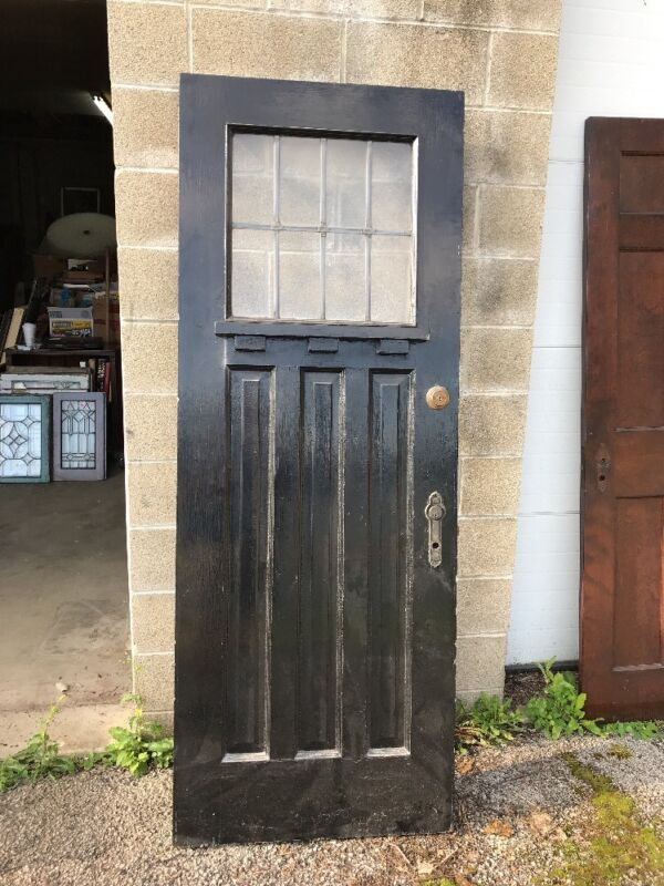MAR201 antique leaded glass entrance door 30 x 79.5