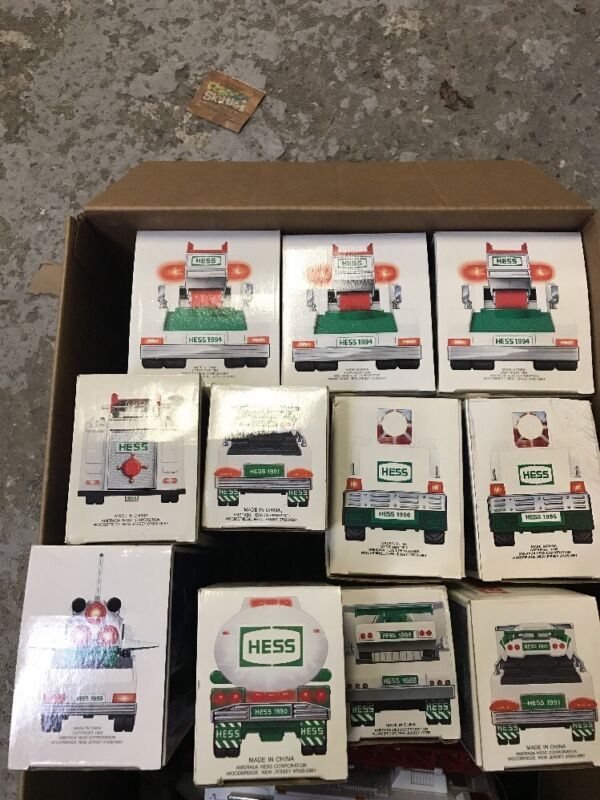 Hess Truck Collection 11Piece Lot-All in boxes- never played with