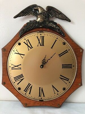 Vintage Sessions United Model 626 Eagle Wall Clock