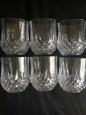 Cristal D Arques Double Old Fashioned Rocks Glasses (6)