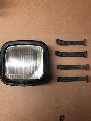 Honda XR 200 250 350 500 600 White Headlight Cover rubber bands shroud