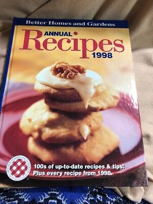 Better Homes and Gardens Annual Recipes 1998 Rice Spices Healthy Low Fat 30