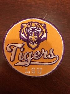 LSU Tigers Vintage Embroidered Iron-On Patch (NOS) 2.75