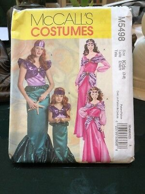Mermaid Princess Sz 3 4 5 6 7 8  Halloween Uncut McCalls M5498