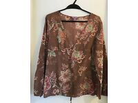 Monsoon Top Size 12 Cotton.