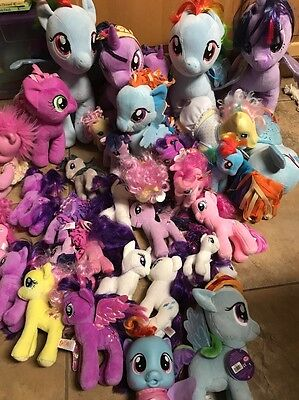 LOT 41 Plush Stuffed MY LITTLE PONY toys Different Sizes Build A Beat /Ty Others - My Little Pony 41