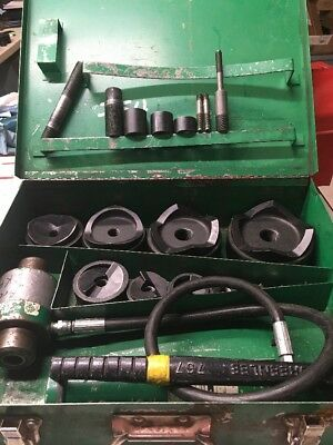 Greenlee 7310sb -4 Hydraulic Slugbuster Knockout 767 Pump 746 Ram 5501
