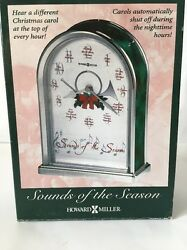Howard Miller Sounds of the Season Musical Table Top Clock Wood New