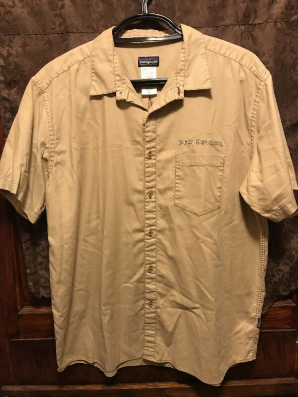 NEW BELGIUM BREWING Asheville CO ~ XL ~ S/SL PATAGONIA Beer Delivery Work Shirt