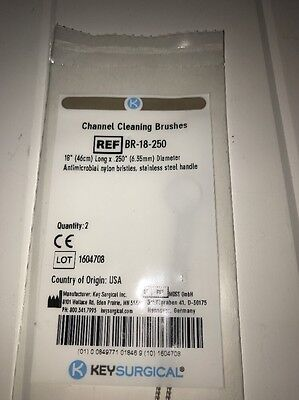 Br-18-250 Surgical Channel Cleaning Brushes Stainless 18 Long .250 Dia 2