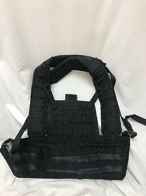 Eagle Industries Black Rhodesian Recon Vest Chest Rig RRV LE Duty SWAT  for sale  Woodbridge