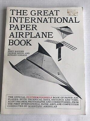1967 Great International Paper Airplane Book Competition Jerry Mander Complete](Paper Airplane Contest)