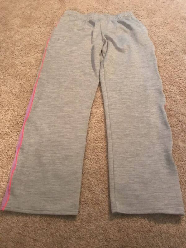 Under Armour Youth Xl Girls Gray Purple Athletic Pants