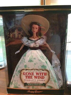 2001 Barbie as Vivien Leigh Scarlett O'Hara Barbecue at Twelve Oaks 29910 NRFB