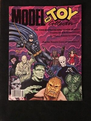 MODEL and TOY COLLECTOR Magazine #13 Feb. 1990 Batman buying guide issue