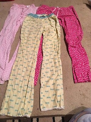 3 Pairs Old Navy XSmall Small Dragonfly Lounge Sleep Pajama Pants Pink Low Rise