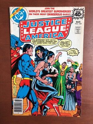 Justice League Of America #164 (1975) 7.5 VF DC Key Issue Comic Bronze Age
