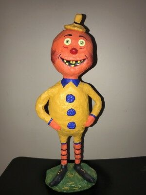 "16"" Halloween Pumpkin Man Original Monnie Wilson papier mache"
