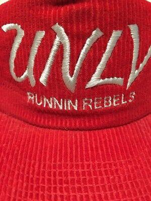 2b18c0847 Vintage Hat Cap University Of Las Vegas Runnin Rebels Corduroy Red