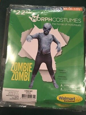 Halloween Costume Morph costume Zombie Boys Medium 8-10 New](Boys Zombie Halloween Costumes)