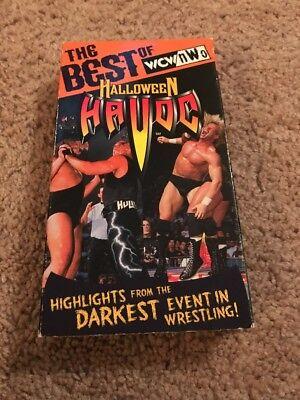 WCW/NWO THE BEST OF HALLOWEEN HAVOC VHS 1998 WWF WWE STING MACHO MAN SAVAGE! (Halloween Havoc 98)