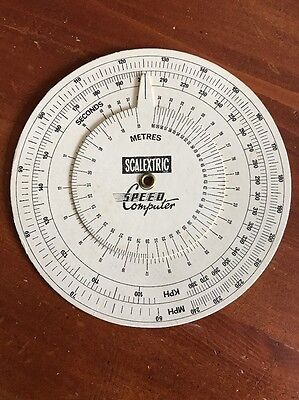 Vintage Scalextric Speed Computer Lap Length Time Calculator C276